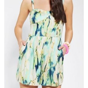 Urban Outfitters Floral Silky Romper